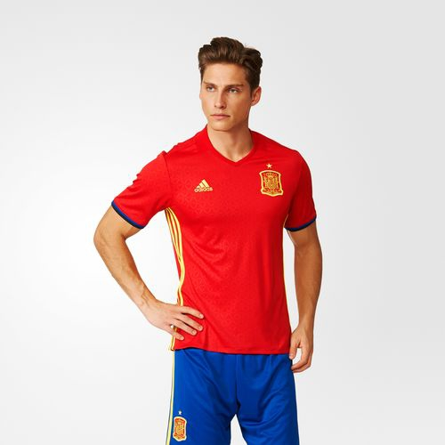 CAMISETA ADIDAS PRIMERA EQUIPACIÓN ESPAÑA UEFA EURO 2016 RÉPLICA AI4411 ROJO 2e86d9575cc10
