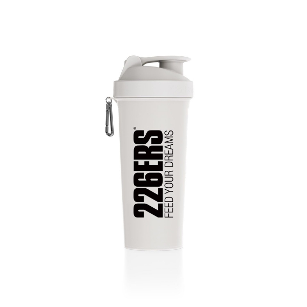 SHAKER WHITE — Black logo 600ML